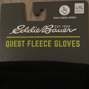 Eddie Bauer Fleece gloves L/XL women's